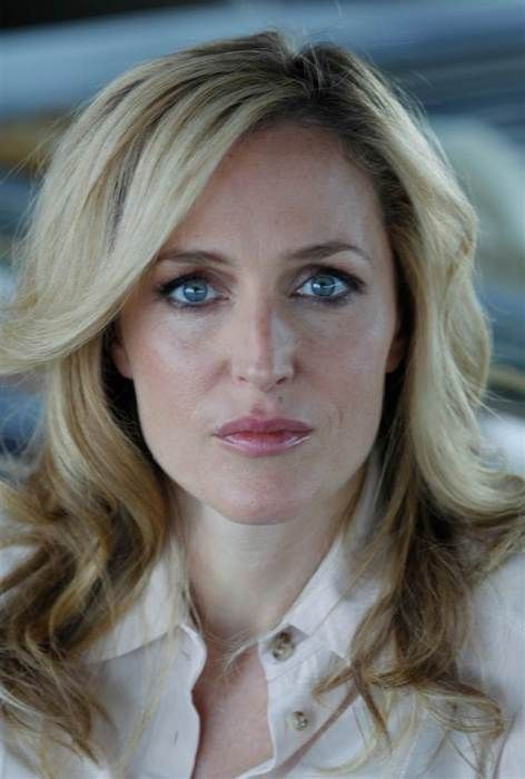 She's so beautiful and self assured! Gillian Anderson.