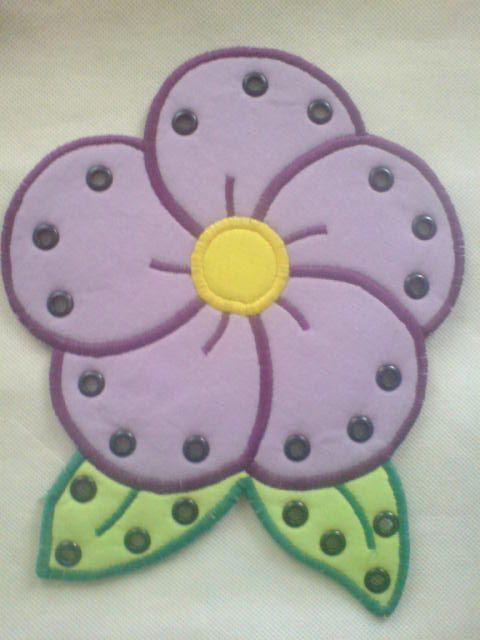 Fűzős játék - Virág lila