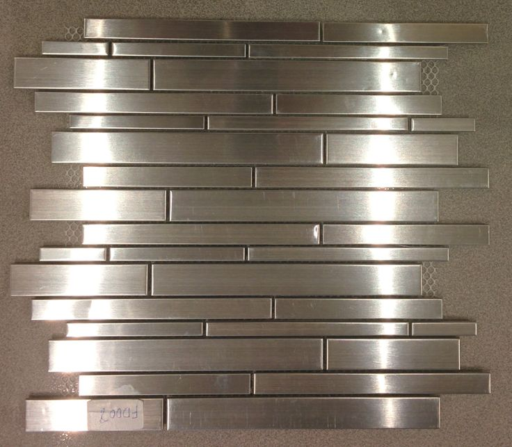 Stainless Steel #Mosaics - Random Strip