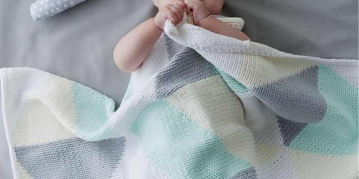 Tricoter un plaid géométrique et tout doux pour bébé!