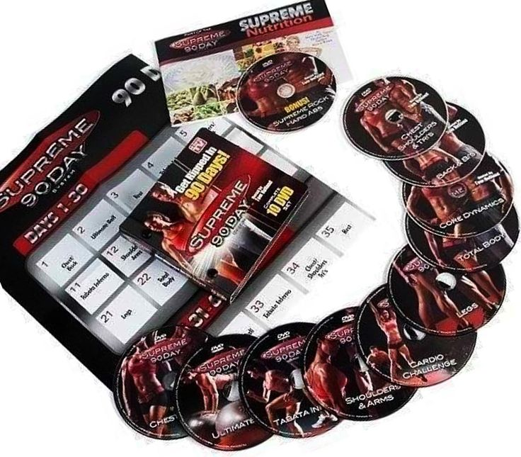 Fitness DVDs 109130: New Supreme Dvd Set Get Insane Abs W Supreme 90 Day Workout As Seen On Tv 13 60 BUY IT NOW ONLY: $37.99