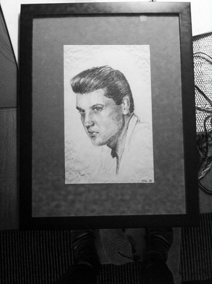 Elvis-drawing. Made it in the mid eighties.