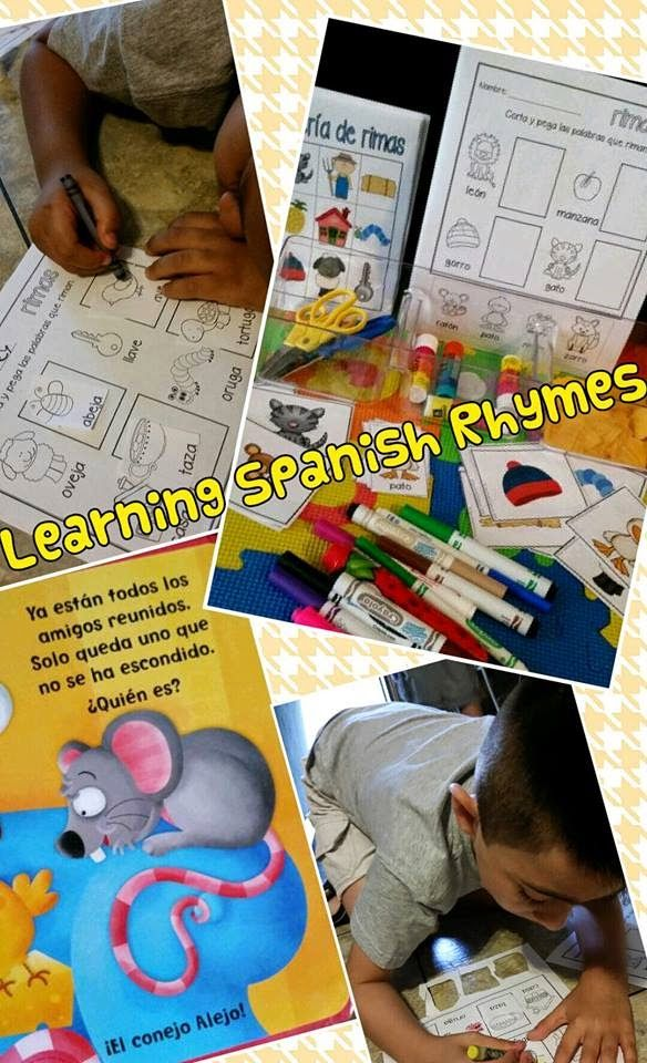 Spanish Rhyming Words {Spanish Playgroup}