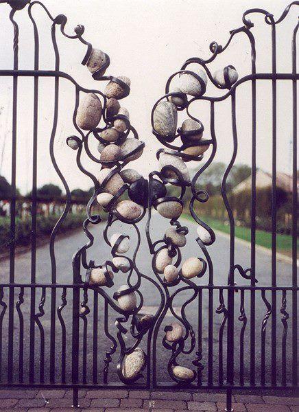 Stonefall Cemetrey gates by Alan Dawson. Love this detail.