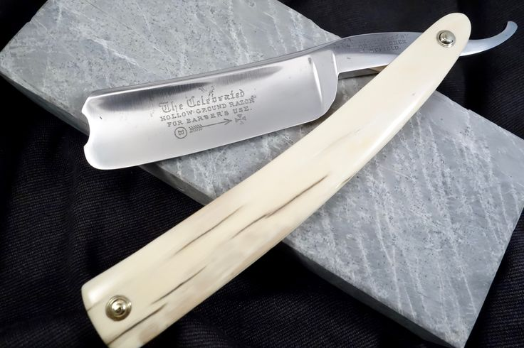 """Wade & Butcher Celebrated Hollow Ground For Barbers Use- 1"""" Blade Restored Mammoth Ivory Scaled Straight Razor - Shave Ready"""