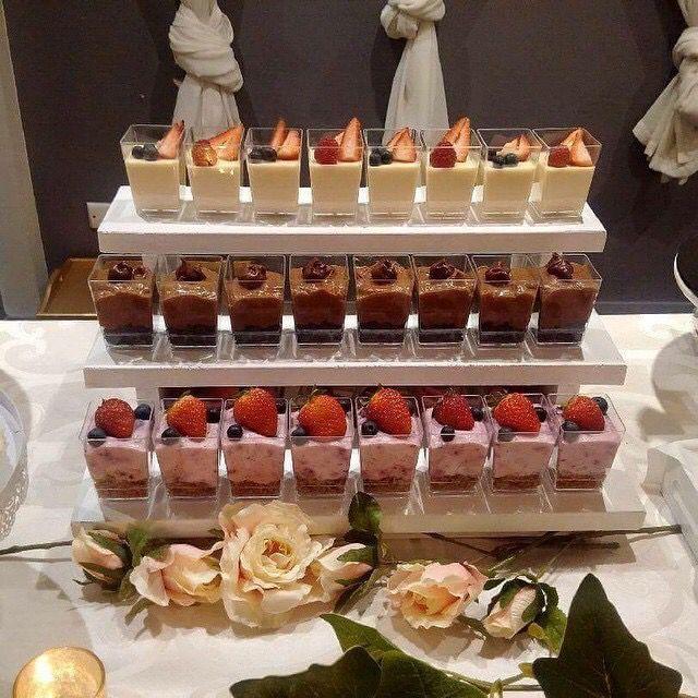 Dessert Cups for Dessert Tablescape | Black Rose Bakery, Australia