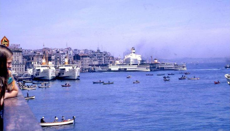 """""""Galata Köprüsü'nden Karaköy'e bakış (1966)  #istanbul"""""""