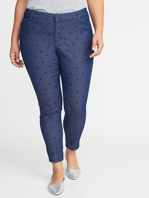 Mid-Rise Secret-Slim Pockets Pixie Plus-Size Pants 13