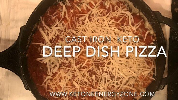Cast Iron Deep Pan Keto Pizza