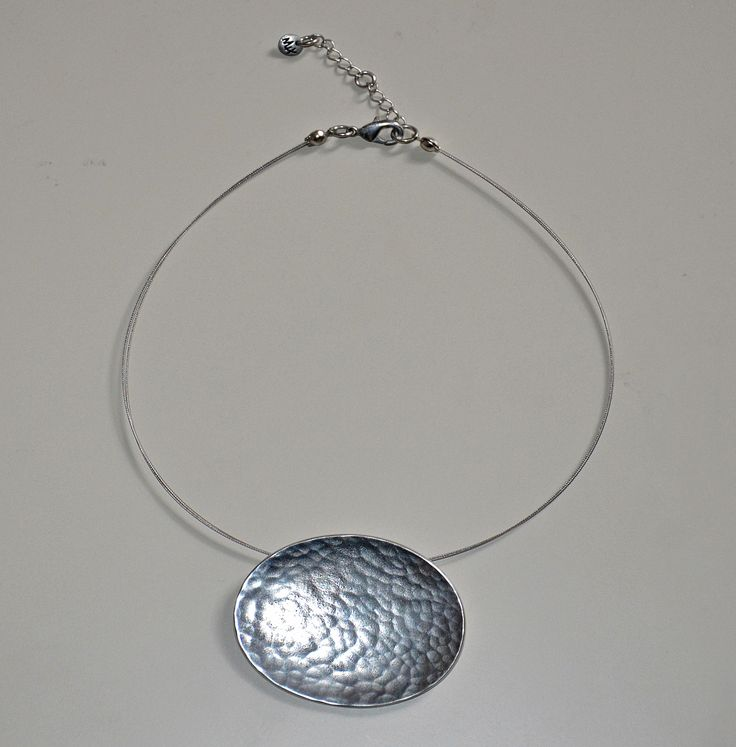 Simple and stylish pewter pendant now available online at www.ciaobella.ca