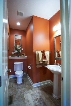 Bath Terra Cotta Paint Design Ideas Pictures Remodel And