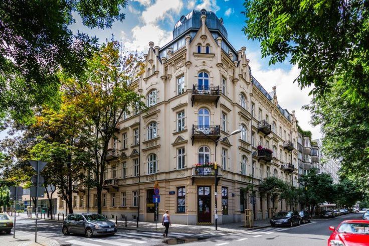 The apartment house on Hoza street, downtown Warsaw, Poland
