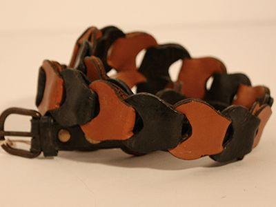 Cinturón de cadena dos colores #Cuero #Leather #cinturon