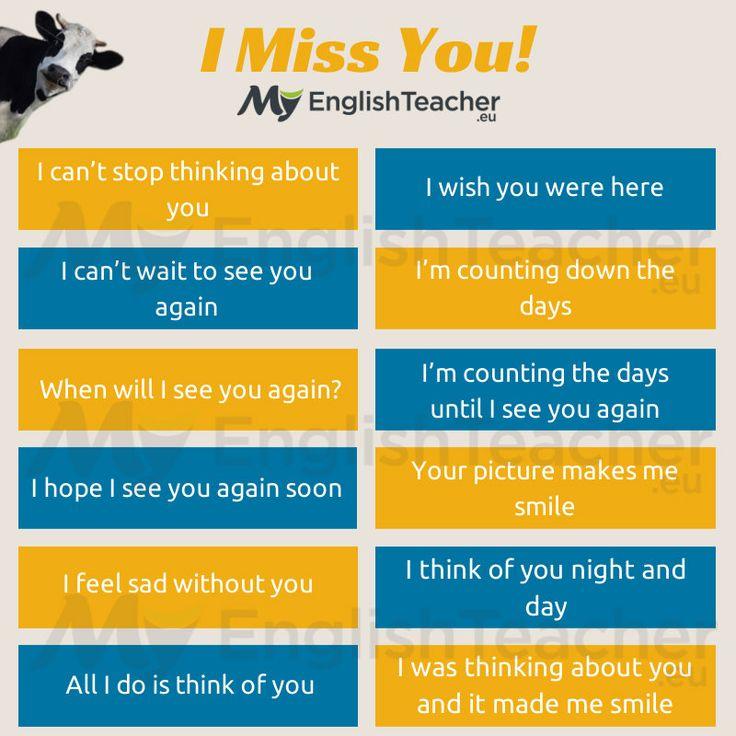 "Other Ways to Say ""I Miss You"" - MyEnglishTeacher.eu"