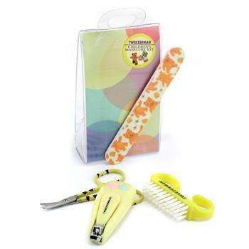 Childrens Care Kit: Baby Nail Clipper+ Baby Nail File+ Nail Brush+ Baby Nail Scissors 4pcs
