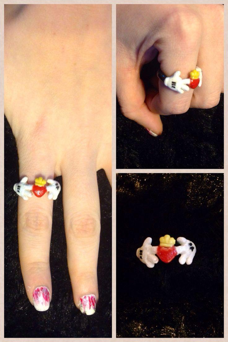 @Kimberly Peterson Peterson Jordan original Mickey Mouse claddagh ring