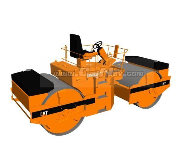 Tandem road roller 3d model 3dsMax,3ds files free download