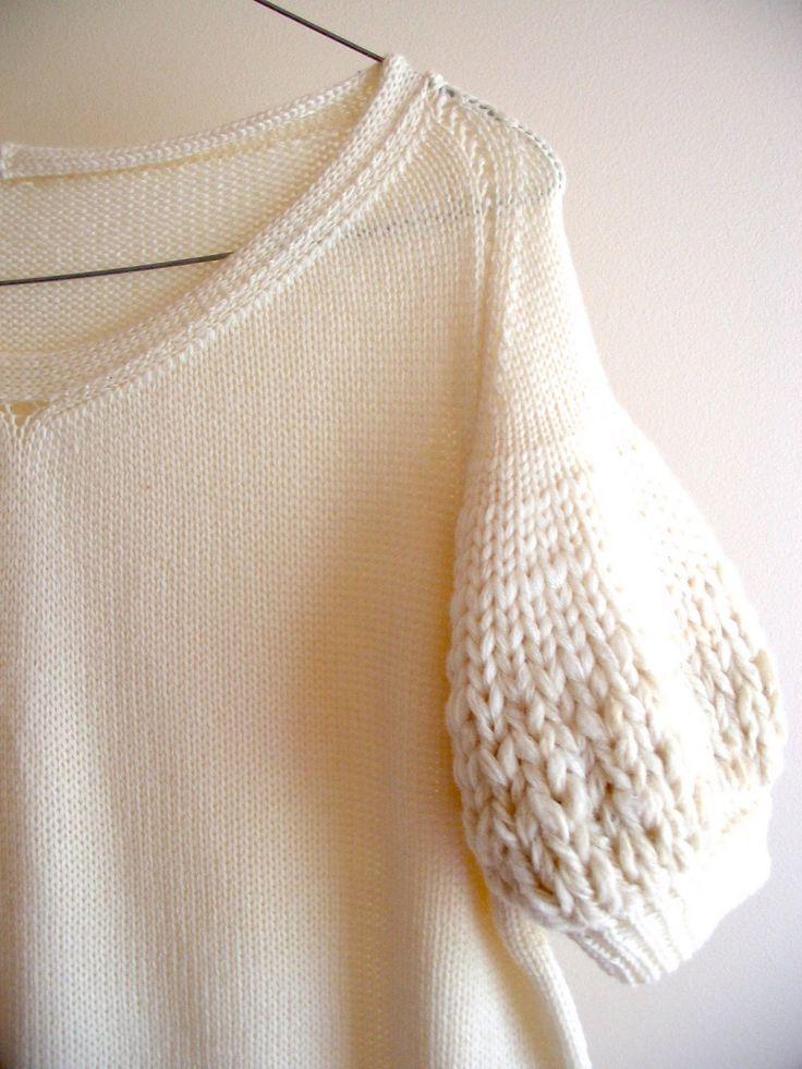 nikki gabriel: fibre wonder / lovely sleeve detail