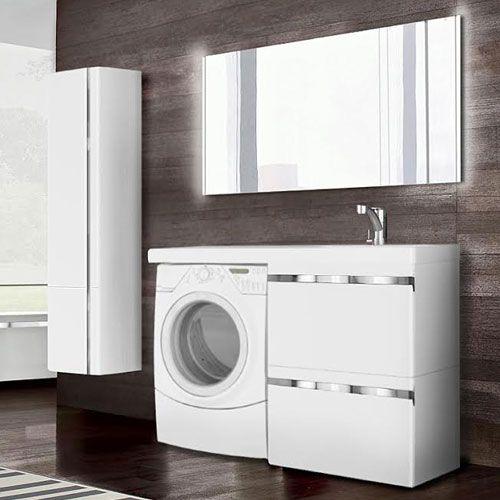 мебель для ванной со столешницей под стиральную машинку
