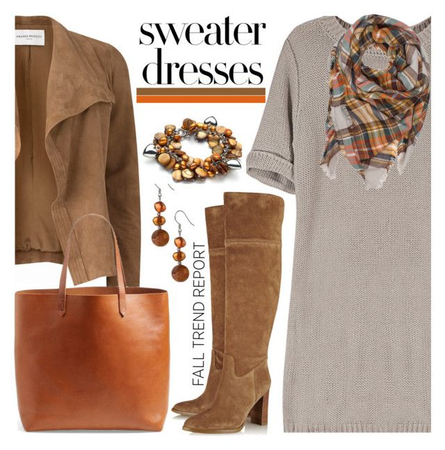 """""""Cozy and Cute: Sweater Dresses"""" by brendariley-1 ❤ liked on Polyvore featuring MICHAEL Michael Kors, Amanda Wakeley, Madewell and sweaterdresses"""