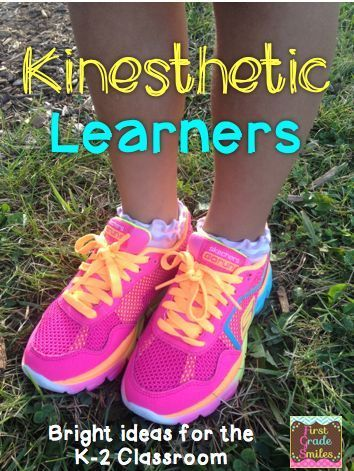 Bright Ideas for Kinesthetic Learning - games and activities for ELA and Math that are easy to implement into any K-2 classroom. First Grade Smiles blog post