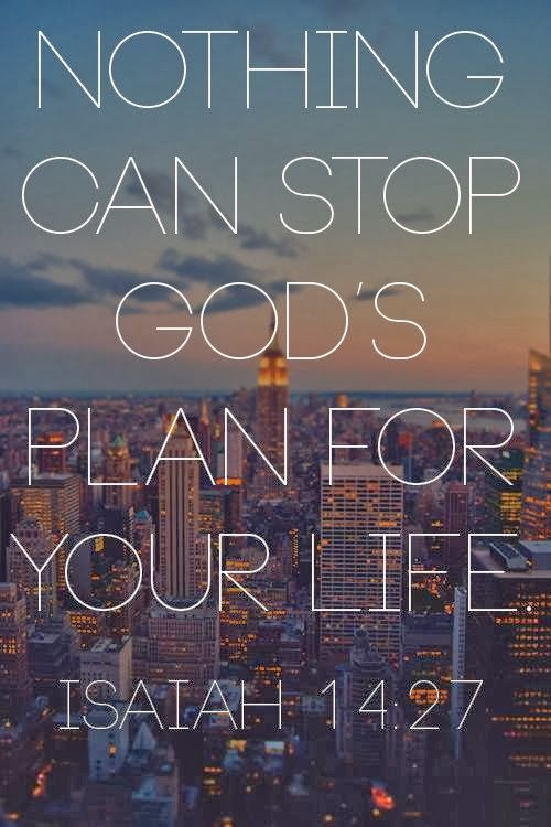 Nothing can stop God's plan for your life Isaiah 14:27 ~