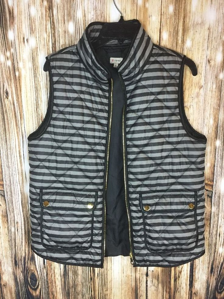 Cremieux Size Medium Black And Gray Quilted Vest Mens Outerwear Sport    eBay