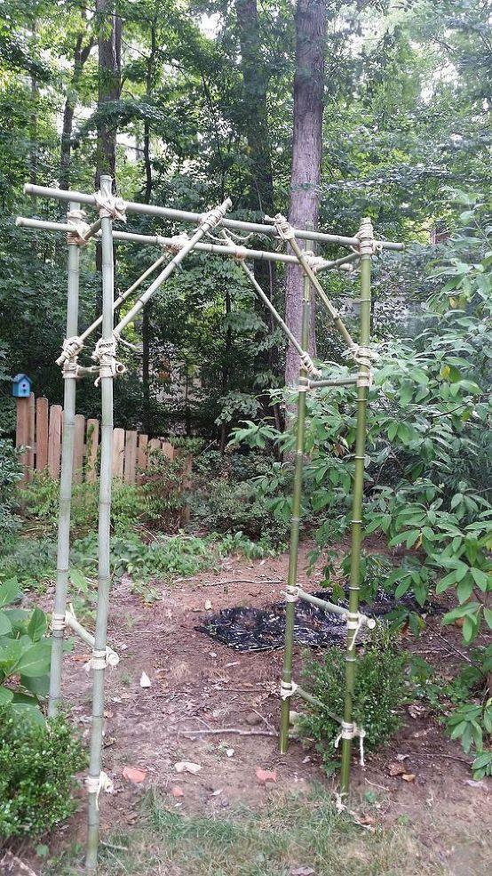 Erstelle Eine Bambus Pergola Laube Fur 10 Hometalk Bambus