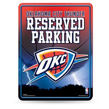 "Oklahoma City Thunder NBA 8.5"""" x 11"""" Metal Parking Sign OKC Rico Industries"