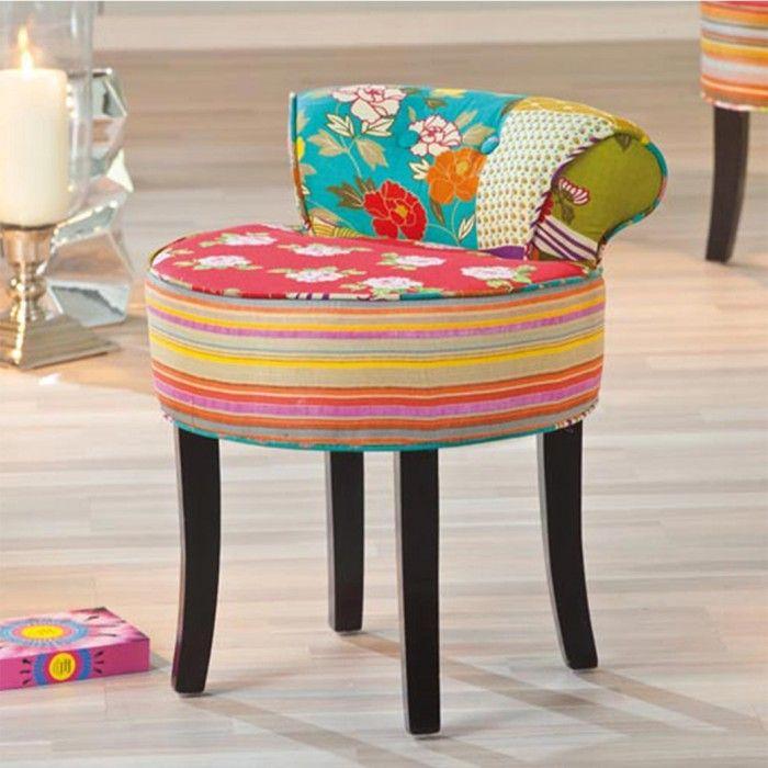 Lo sgabello Blossom è imbottito e foderato in cotone lavabile, grazia al suo stile patchwork sdrammatizza qualsiasi angolo della nostra casa con il suo design retro e ricercato. Facilmente lavabile, istruzioni comprese. Spedizione gratuita!