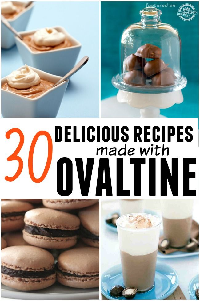 You had no idea there were this many awesome Ovaltine recipes out there!