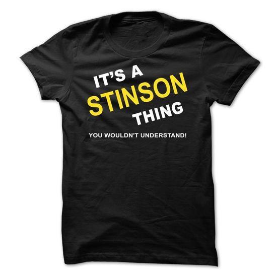 Its A Stinson Thing - #tshirt redo #pink sweater. WANT IT => https://www.sunfrog.com/Names/Its-A-Stinson-Thing-qlcfl.html?68278