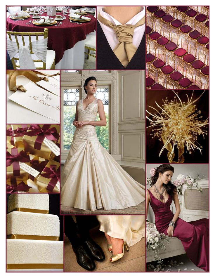Ivory wedding dress color scheme
