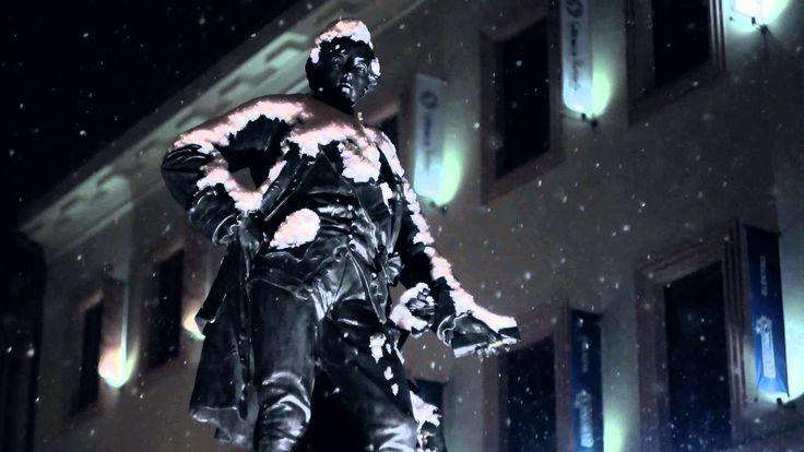 Šumperk - Snow Falling at Night