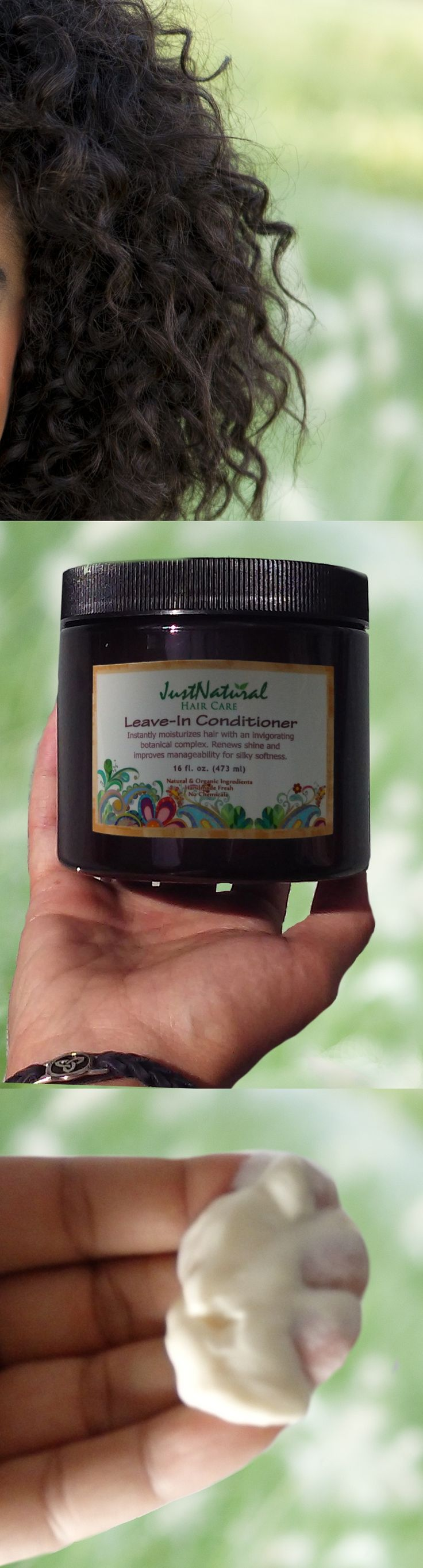This is the best natural leave in conditioner! This jar lasted me months! It helps detangle and tame my thick curly hair! My hair is so smooth and silky when I go to the salon to straighten it. My stylist asked if I have been using a keratin treatment. I didn't think he believed me when I said no, just natural and organic hair care products, lol. The scent is very light so I add grapefruit oil. Thanks!