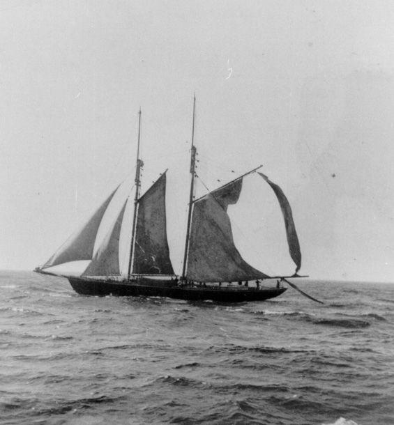 """Shirley C."" (Schooner) at sea"