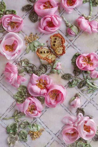 How to- ribbon embroidery--for crazy quilts