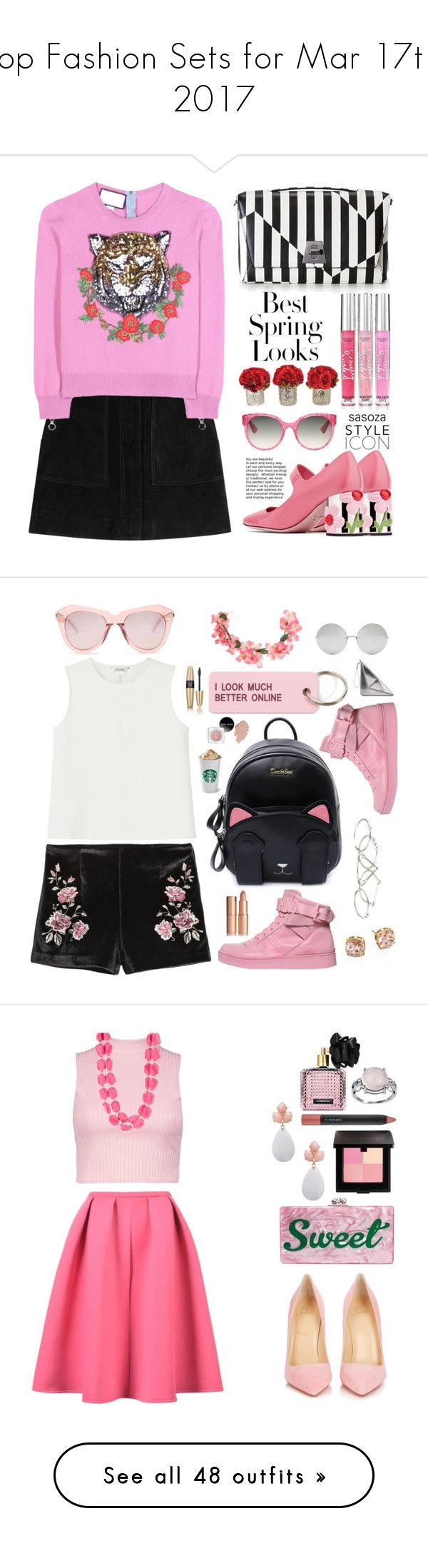 """""""Top Fashion Sets for Mar 17th, 2017"""" by polyvore ❤ liked on Polyvore featuring Prada, rag & bone, Gucci, Akris, H&M, Victoria's Secret, The French Bee, Monki, Moschino and Various Projects"""