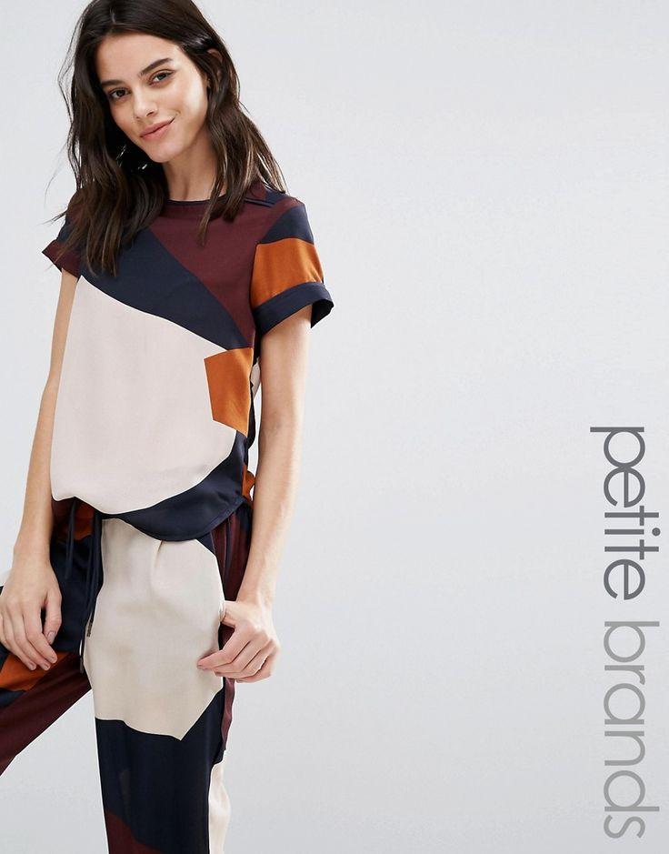 Vero+Moda+Petite+Colourblock+T-Shirt