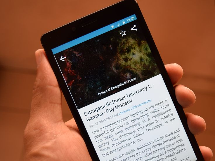 Discovery News App Detailed Screen by Chandresh Gandhi