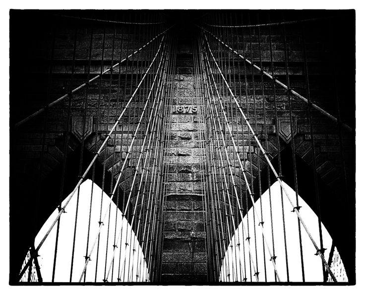 1875 - The Brooklyn Bridge, Brooklyn New York USA Copyright Nicole Wallace 2015