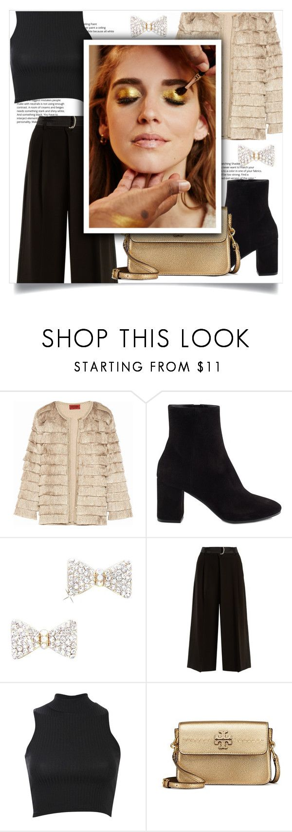 """Gold"" by jane-cupacake ❤ liked on Polyvore featuring Missoni, Balenciaga, Weekend Max Mara, Pilot, Tory Burch and Pat McGrath"