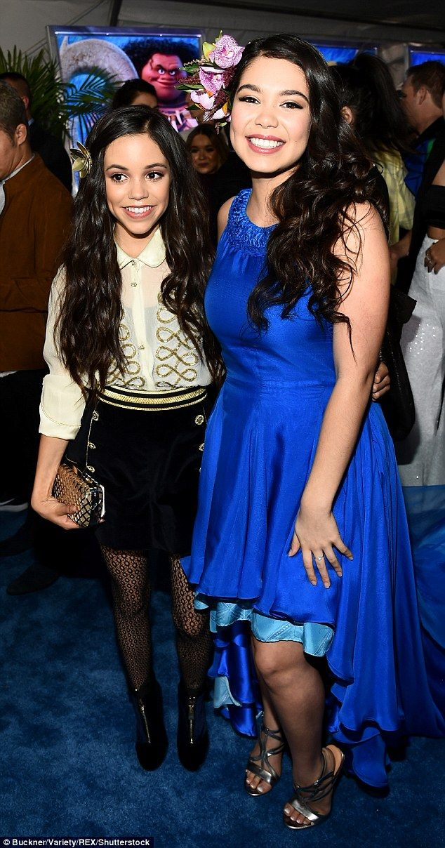 Girls only! The Moana actress and Jenny Ortega smiled for their moment in the spotlight