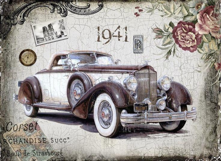Gallery.ru / Фото #2 - Ретро-автомобили. Коллажи - MontanaBY