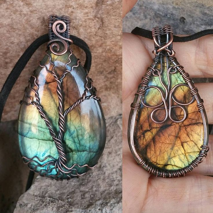 I love to wire wrap beautiful gems/stones. And also love to make the wired Tree, this brings them together.