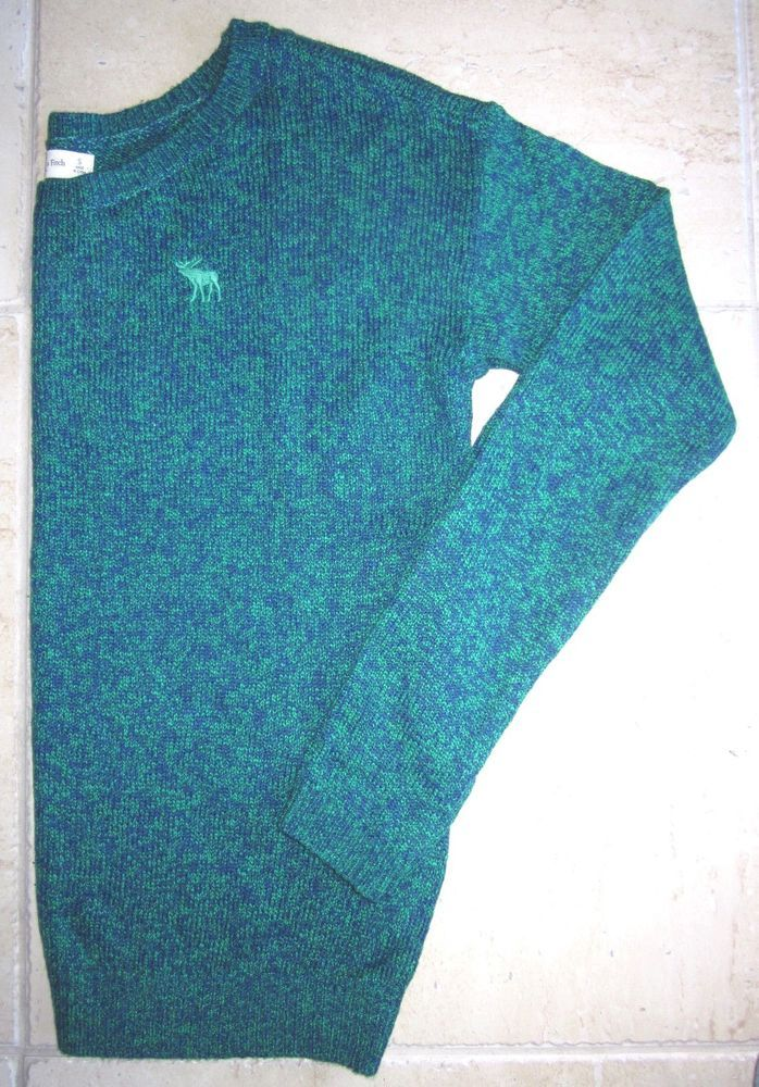 Abercrombie and Fitch New! Womens Cotton Blend Blue Green Marl Sweater-SMALL #AbercrombieFitch #SWEATER