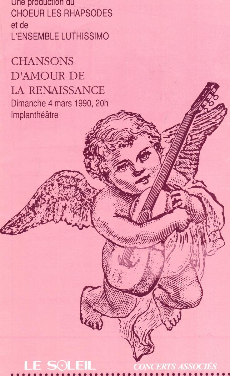 Mars 1990  Chansons d'amour de la Renaissance  Les Rhapsodes