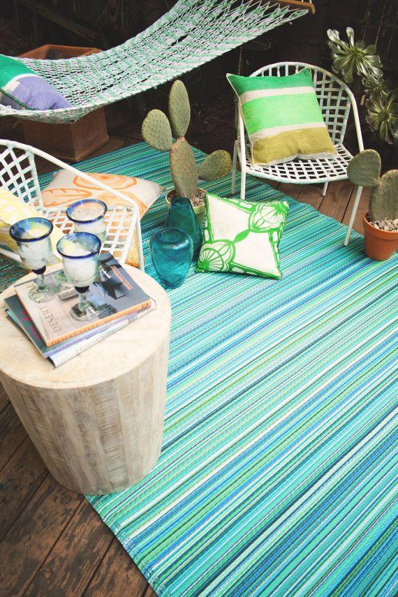 Fab Habitat Indoor/Outdoor Rug Cancun Turquoise & by FabHabitat