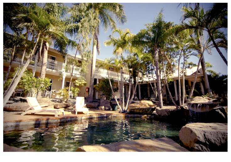 lounging poolside in tropical #AirlieBeach, #Australia #holiday