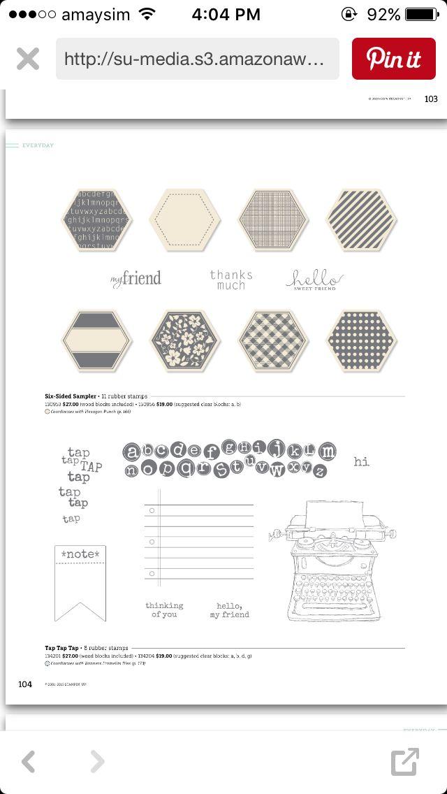 Six sided sampler stamp set (get with punch bundle)
